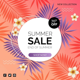 Colorful summer sale offer