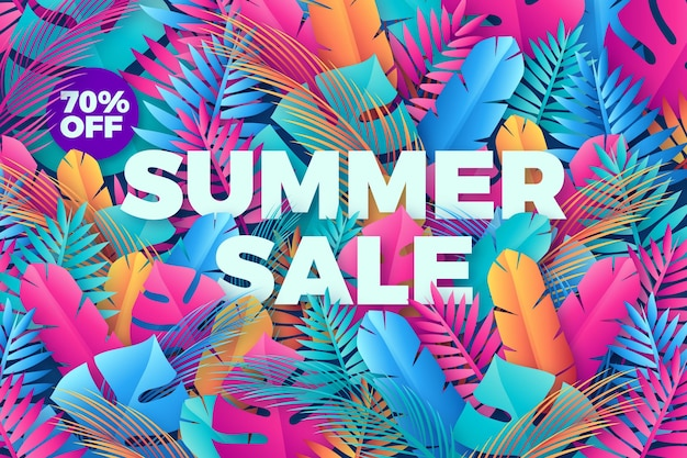 Colorful summer sale promotional wallpaper