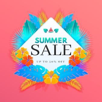 Красочная летняя распродажа