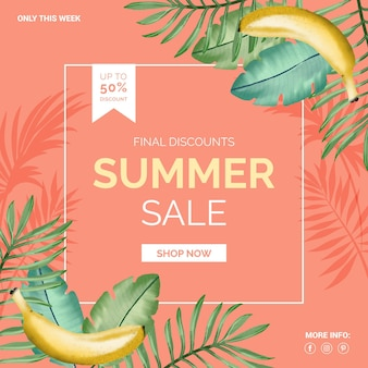Colorful summer sale