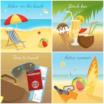 Concetto di vacanze estive colorate