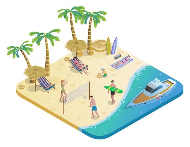 Красочная концепция летних каникул