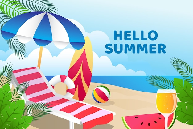 Colorful summer wallpaper design