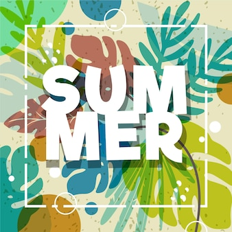 Colorful summer wallpaper with foliage