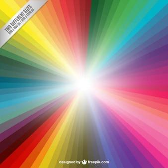 Colorful sunbeam background