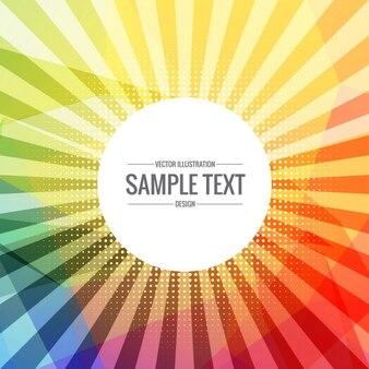 Colorful sunburst rays background