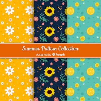 Colorful sunflowers pattern