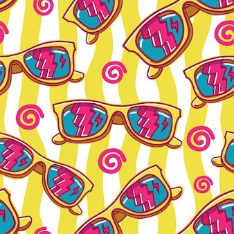 Colorful sunglasses seamless pattern