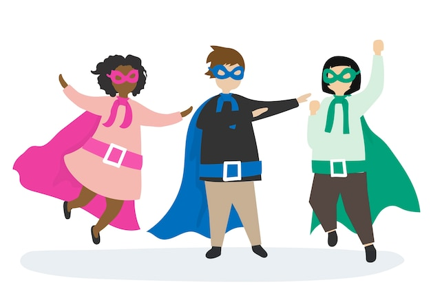 Colorful superheros to the rescue