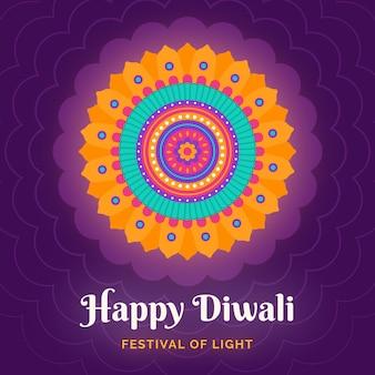 Colorful symbol diwali event flat design