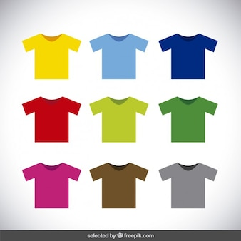 Colorful t-shirt collection