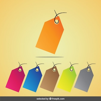Colorful tags collection