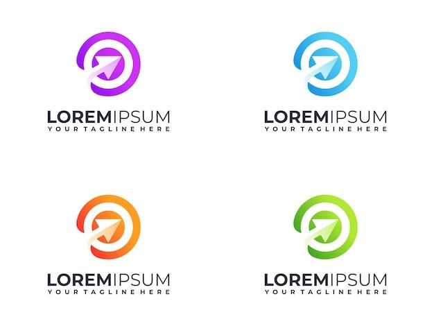 Красочный целевой логотип