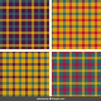 Colorful tartan patterns collection
