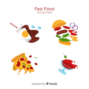 Colorful tasty food composition