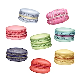 Colorful tasty yummy macarons