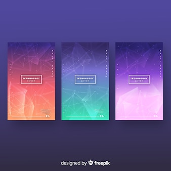 Colorful technology brochure collection