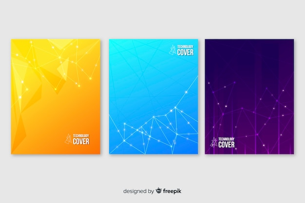 Colorful technology brochure set