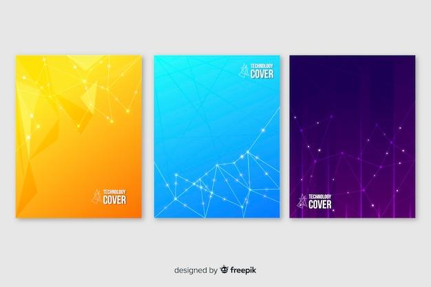 Colorful technology brochure set