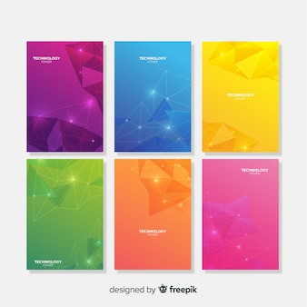 Colorful technology brochure template collection