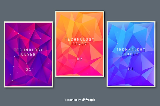 Colorful technology cover collection