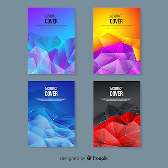 Colorful technology cover template collection