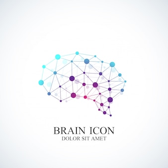 カラフルなテンプレート脳。クリエイティブなコンセプト