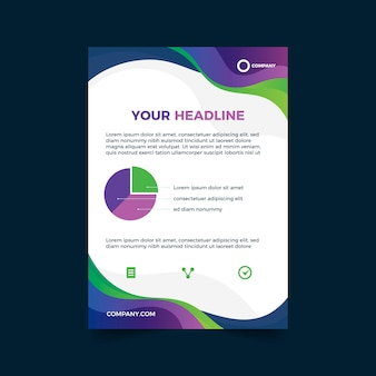 Colorful template for business flyer