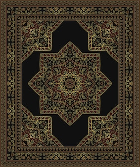 Colorful template for carpet illustration