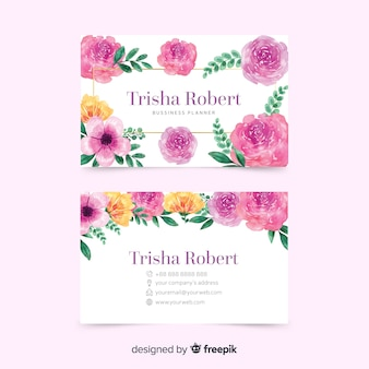 Colorful template concept for business card