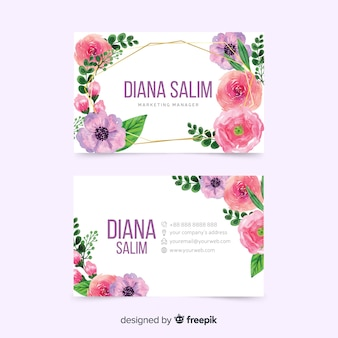 Colorful template design for business card