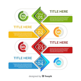 Colorful template of infographic steps