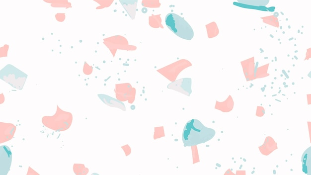 Colorful terrazzo abstract background seamless pattern in pink and blue