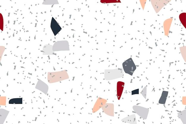 カラフルなテラゾの抽象的な背景のシームレス パターン