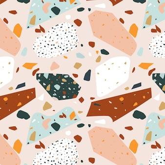 Colorful terrazzo pattern design
