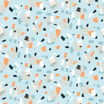 カラフルなテラゾパターンデザイン