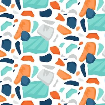 カラフルなテラゾパターンデザイン 無料ベクター