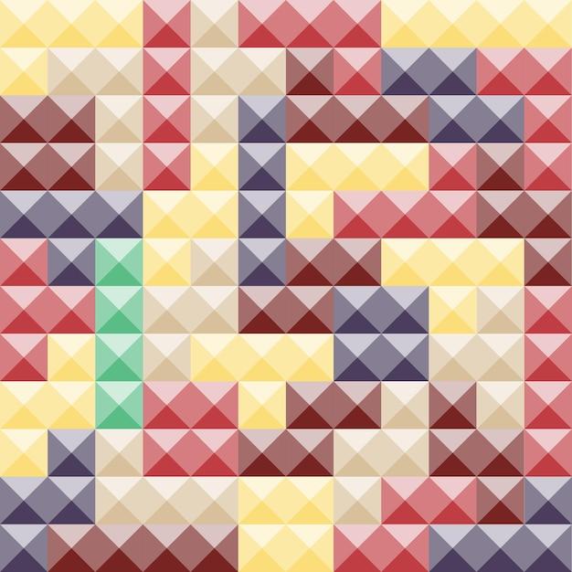 다채로운 테트리스 조각, 추상적인 배경입니다. 플라스틱 건설 블록