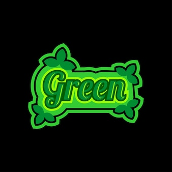Colorful text green logo design template
