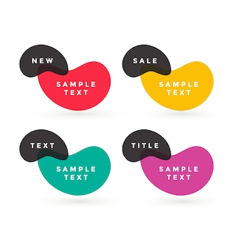 Colorful text labels vector design