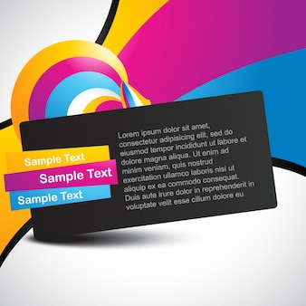 Colorful text template