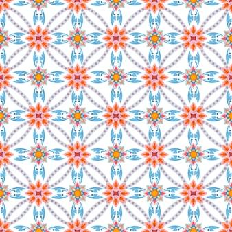 Colorful thai art seamless pattern fabric textile wallpaper.