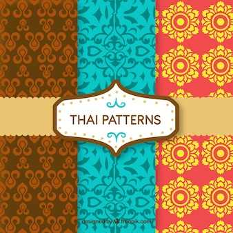 Colorful thai pattern with flat design