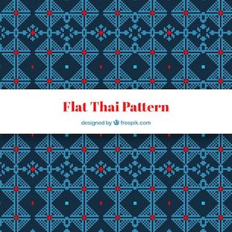 Modello tailandese colorato con design piatto