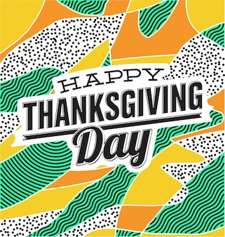 Colorful thanksgiving day design