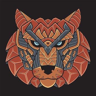 カラフルな虎のイラスト