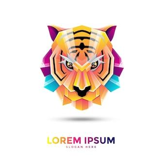 Красочный логотип тигра