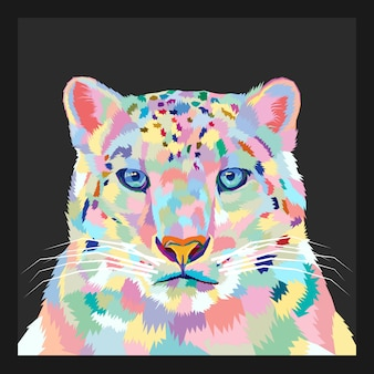 Colorful of tiger pop art style vector