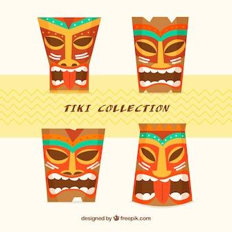 Красочная коллекция маски тики