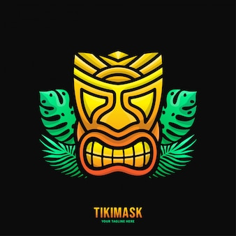 Colorful tiki mask logo